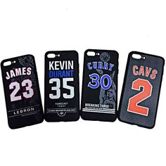 Noctilucent Soft TPU Case for iPhone 7 7S Plus NBA Basketball Kevin Durant 35 Cavs 2 Kyrie Irving Lebron James 23 Curry 30 Kobe Kevin Durant, Durant Nba, Iphone 7, Kyrie Irving, Nba Basketball, Lebron James, Kobe, Drink Sleeves, Phone Cases