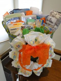 GREAT Idea - mommy survival kit for new moms. The handwritten notes are awesome!