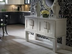 Create a custom credenza for your home! See more at www.cabinetsolutionsusa.com #Cabinets #Storage #Laundry #Garage #Remodel #Scottsdale #CabinetSolutionsUSA