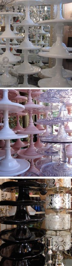 cake stands from Bountiful Home in Venice, California