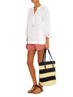 Esta Bolsa Maxi Straw Striped Tote da Sensi Studio, foi nossa Inspiração para a Max Bolsa de Palha Niara. Adquira a sua Niara em nossa loja virtual : www.lindamoliva.com.br