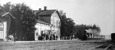 Svartå railway station in Karis (now part of Raseborg), Finland. Late 1800's.