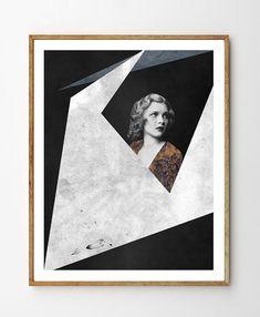 Voyage - Sci-fi Art, stampa geometrica, Mixed Media Art, foto d