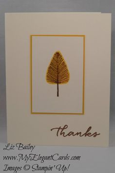 Totally Trees - Watercolor Wishes - CAS - My Elegant Cards - Liz Bailey - Independent Stampin' Up! Demonstrator