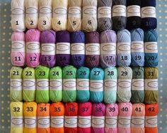 Cotton Yarn Choose any 20 Colours You Like Ready by CrochetObjet