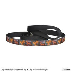 Dog Paintings Dog Leash by Therese Dietzel of Willowcatdesigns. http://www.zazzle.com/Willowcatdesigns?rf=238539144741186182*