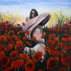 Poppyfield - acrylic paint (2020) My Arts, Painting, Painting Art, Paintings, Painted Canvas, Drawings