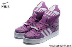 Buy Discount Adidas X Jeremy Scott Big Tongue Shoes Purple White Basketball Shoes Store