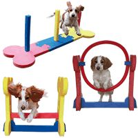 """<p> Made from a soft foam for safe training, these agility obstacles are designed specifically for small and medium sized dogs. They can be used both indoors and outdoors, and are quick and easy to assemble with fun bone shaped pieces!</p> <p> Now available with optional tunnel!</p> <p> <span style=""""color: rgb(255, 0, 0);"""">UK%2..."""