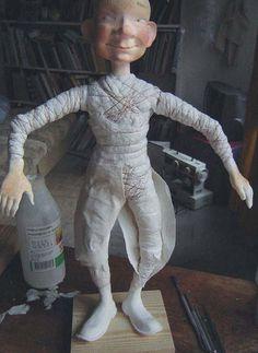 Костюм для куклы в технике бумажного пласта - Kukly.eu -Мастер-Класс.