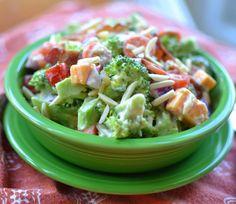 Broccoli Bacon Cheddar Salad | Small Town Woman