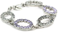 """Sorrelli """"Chantilly Lace"""" Open Oval Crystal Silver-Tone Bracelet Sorrelli. $90.00. A polishing cloth will keep the metal from oxidizing over time. Store in a dry place. Sorrelli jewelry is hand crafted from genuine semi-precious stones and high quality Austrian crystals. The Sorrelli vision, to create beautiful jewelry and bring enjoyment to those who wear it, continues today. Made in China. To keep your jewelry looking its best, clean it periodically with a mild soap and water"""