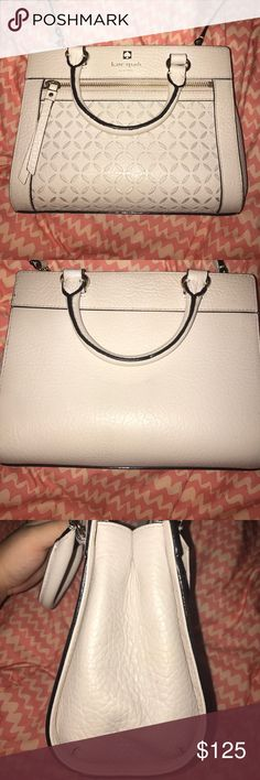 Kate spade handbag Light pink handbag with attachable strap. Great condition! Any flaws are shown in the photos above kate spade Bags Satchels