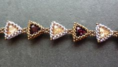 Tiny Triangles/ Bracelet kit  golden shadow/ by mariposa8000, $40.00