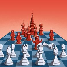 Davide Bonazzi - Has Russia always played by its own rules? Cover #illustration for BBC World Histories about the Russia's historical relationship with the rest of the world. #history #russia #chess #world #strategy #game #conceptual #editorial #davidebonazzi