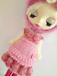 Ravelry: Frilly Pinny for Blythe doll pattern by Jane Pierrepont