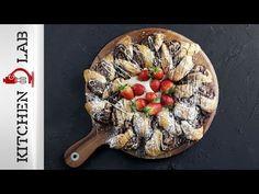 Γεμιστή σφολιάτα με σοκολάτα Επ.31 | Kitchen Lab TV - YouTube Chocolate Filling, Freshly Baked, Delicious Desserts, Caramel, Sweet Treats, Sweets, Baking, Breakfast, Greek Recipes