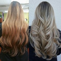 Stop In Your Tracks Silvery Blonde Sombre | Modern Salon