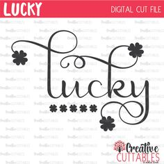 Lucky St. Patrick's Day SVG Digital Cut File by CreativeCuttablesCo on Etsy