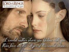 Arwen and Aragorn - The Two Towers - liv Tyler - Lord of the Rings - Viggo Mortensen Legolas, Aragorn Und Arwen, Gandalf, Top Romantic Movies, Romantic Movie Quotes, Romantic Couples, Jrr Tolkien, O Hobbit, Hobbit Dwarves