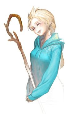Either gender bent Jack or Elsa wearing Jack's clothes...