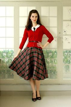 Charter School Cardigan in Red   Mod Retro Vintage Sweaters   ModCloth.com