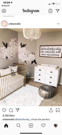 Excellent baby nursery detail are offered on our internet site. Read more and you wont be sorry you did. Baby Bedroom, Baby Room Decor, Nursery Room, Girl Nursery, Girl Room, Kids Bedroom, Baby Rooms, Nursery Ideas For Girls, Baby Bedding