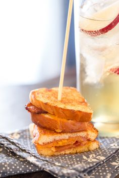 Apple Butter Grilled Cheese - Perfect appetizer!