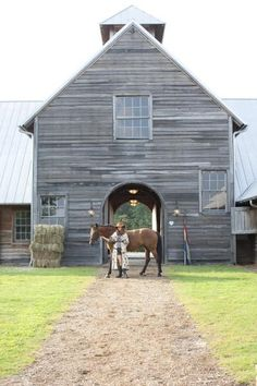i'm scared of horses, but this is beautiful. i can only imagine the parties you could have in that barn!