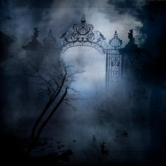 Find images and videos about dark, fog and spooky on We Heart It - the app to get lost in what you love. Dark Fantasy, Fantasy Art, Spooky Places, Haunted Places, Dark Gothic, Gothic Art, Old Cemeteries, Graveyards, Gothic Aesthetic