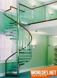 Стеклянные лестницы фото 1