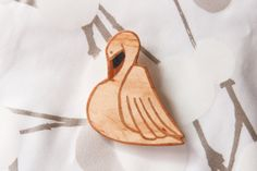 """Items similar to Wooden brooch """"joutsen"""" on Etsy Handmade Jewelry, Jewelry Making, Brooch, How To Make, Etsy, Inspiration, Biblical Inspiration, Brooches, Diy Jewelry"""