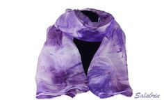 Seidenschal - Schal MaiFlieder in 100% Seide. Wunderschöner Seidenschal in lila - ein Designerstück von Salabrin bei DaWanda