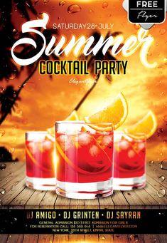 "Plantilla PSD gratis ""Summer Cocktail Party"""