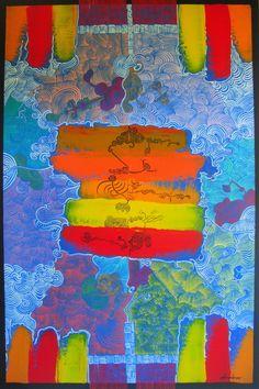 """ARMANDO MESQUITA NETO """"Arabesque"""" Acrylic on Canvas 47"""" x 31"""""""