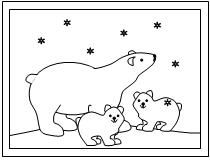 Polar Bear Coloring Page from Making Learning Fun.