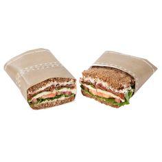 Fettresistente Tasche für belegte Brote. Dank der speziellen Beschichtung bleiben Ihre Sandwiches besonders lange frisch. Bedruckung mit lebensmittelechten Farben aus natürlichen Ölen. Ein Klebepunkt sorgt für guten Halt perforierte Abrisskante.