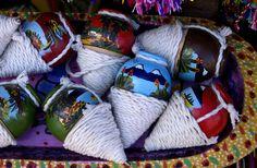Guatemalan toys - Trompos, Panajachel, Guatemala