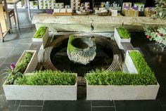 Cast Shapeless Planters that will grow Moss over time