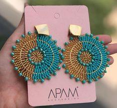 Beaded Earrings, Earrings Handmade, Handmade Jewelry, Beaded Bracelets, Bead Jewellery, Resin Jewelry, Beaded Jewelry, Bead Crochet Rope, Conquistador