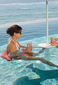 Good How Perfect That You Can Sit At A Table Inside The Pool!