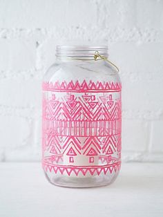 Mason Jar Lantern at Free People Clothing Boutique Mason Jar Lanterns, Mason Jars, Glass Jars, Glass Paint Markers, Paint Pens, Home Gifts, Diy Gifts, Do It Yourself Baby, Festival Shop
