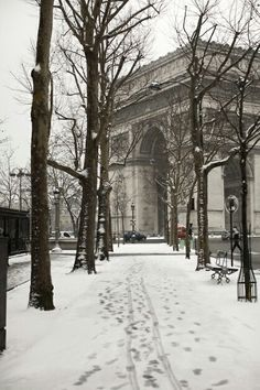 Snow season in Paris.
