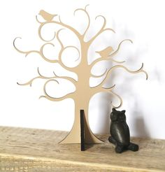 Jewelry Tree, Cottage chic Jewelry storage - Jewellery stand - present - Housewarming present. $34.00, via Etsy.