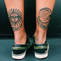 Sun and moon tattoo Dope Tattoos, Tribal Tattoos, Pretty Tattoos, Beautiful Tattoos, Body Art Tattoos, Small Tattoos, Tatoos, Tattoos Skull, Et Tattoo