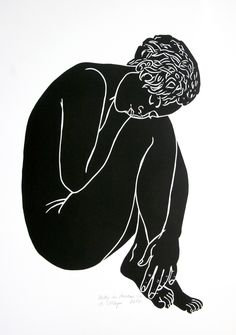"Saatchi Art Artist A Weyer; Printmaking, ""Betty in dreams - Limited Edition 2 . - Saatchi Art Artist A Weyer; Printmaking, ""Betty in dreams – Limited Edition 2 of - Gravure Illustration, Illustration Art, Botanical Illustration, Linocut Prints, Art Prints, Block Prints, Art Plastique, Figurative Art, Art Inspo"
