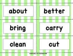 This is a game students can play to practice Dolch sight words. Directions: Each player takes turns picking a card. If you read the word card correctly, keep the card and it's the next player's turn. If you can't read the word card, show it to the other