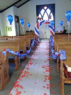 Decoración en la Iglesia.