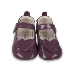 Paarse schoenen met hartje 'Ballet Love' - Old Soles