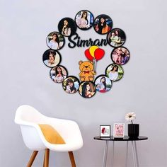 Wall Clock With Pictures, Frame Sizes, Hd Photos, Frames On Wall, Framed Art, Personalized Gifts, Birthday Parties, Photo Wall, Gifts For Her